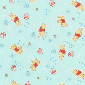 Disney - Pooh Everyday Pooh Toss Mint Green Yardage