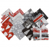 Winter's Grandeur 8 Silver Metallic Fat Quarter Bundle