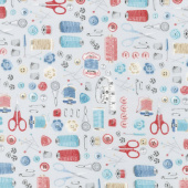 Stitch in Time - Notions Grey Yardage