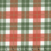 Designer Flannel - Plaid Color Red Green Yardage