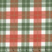 Designer Flannel - Plaid Color Red Green Yardage