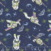 Toy Story - Buzz Lightyear Dark Blue Yardage