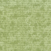 Amour - Romantic Words Green Yardage