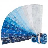 Artisan Batiks - Snowflakes 2 Metallic Roll Up