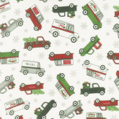 Designer Flannel - Christmas Main Cream Yardage