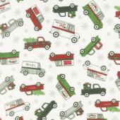 Designer Flannel - Christmas Main Cream Yardage