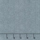 Woolies Flannel - Herringbone Light Blue Yardage