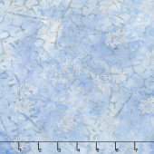Artisan Batiks - Northwoods 7 Branches Ice Metallic Yardage