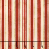 From the Farm - Awning Stripe Red Yardage