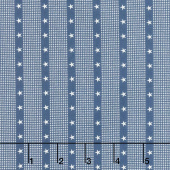 Mackinac Island - Striped Star Navy Yardage