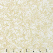 A Joyful Season - Holly Leaves Cream Metallic Yardage