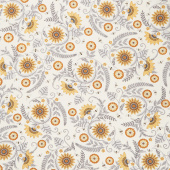 Bee Grateful - Sunflower Garden Parchment Yardage