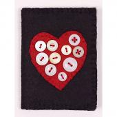 Grandma's Buttons Wool Needlecase Kit