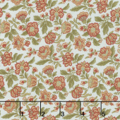 Rosewood - Packed Floral Frost Yardage