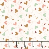 But First, Coffee! - Hearts Cream Yardage
