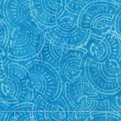 Tonga Batiks - Vivid Seashell Turquoise Yardage
