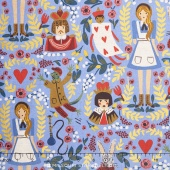 Wonderland - Wonderland Light Blue Canvas Metallic Yardage