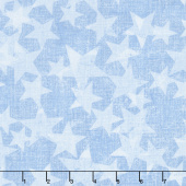 All American Road Trip - Stars Blender Light Blue Yardage