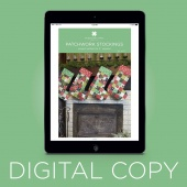 Digital Download - Patchwork Stockings Quilt Pattern by MSQC