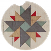 Quilt Car Coaster - Windmill