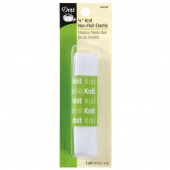 "White 3/4"" Non-Roll Knit Elastic"