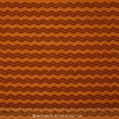 Pumpkin Party Flannel - Stitched Stripe Orange Yardage