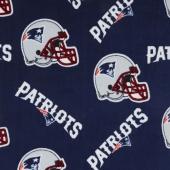 NFL Fleece - New England Patriots Blue Yardage