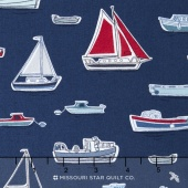 Marina - Boats Blue Yardage