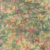 Sunset Blooms Batiks - Multi Medallions Yardage