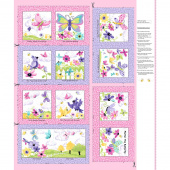Flutter the Butterfly - Butterfly Storybook Pink Panel