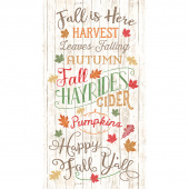 Happy Fall Y'all  - Fall is Here Natural Panel