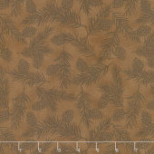 Explore - Pine Tree Monotone Walnut Brown Yardage