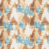 Wild and Free - Lodge Tree Collage Multi Color Yardage