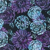 Blossom Batiks - Splash Bouquet Amethyst Yardage