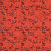 Harlequin Poppies - Garden Toile Red Yardage