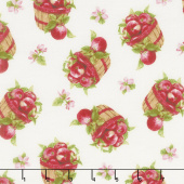 Apple Festival - Tossed Baskets Cream Yardage