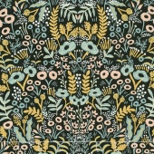 Menagerie - Tapestry Midnight Linen Canvas Yardage