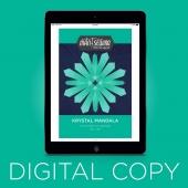 Digital Download - Man Sewing Krystal Mandala Quilt Pattern by Rob Appell