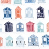 Marina - Beach Huts Multi Yardage