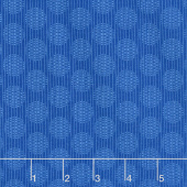 Wilmington Essentials - Blue Ribbon Circles and Stripes Medium Dark Blue Yardage