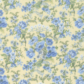 Gabrielle - Bouquet Flowers Yellow Yardage