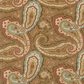 Collection for a Cause - Heritage 10th Anniversary Paisley Dark Brown Yardage