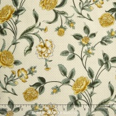 Belcourt - Wallpaper Floral Buttercup Yellow Yardage