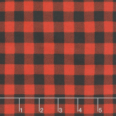 Flannel Gnomies - Plaid Black and Red Yardage