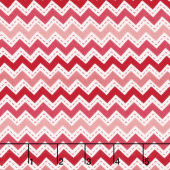 Lil' Sprout Too! - Zig Zag Peach/Red Flannel Yardage