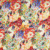 "108"" Quilt Back - Impressionist Floral Multi Digitally Printed 108"" Wide Backing"