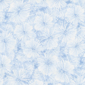 Pearl Frost - Frosty Pine Needles Powder Blue Pearlescent Yardage