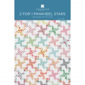 2 for 1 Pinwheel Stars Quilt Pattern by MSQC
