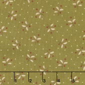 Sage & Sea Glass - Sprigs and Stars Green Yardage