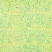 Petal Party Batiks - Foulard Swirl Lemongrass Yardage